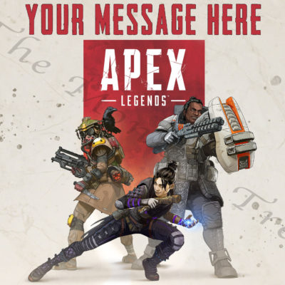 apex legends ps4 edible cake image topper gaming xbox pc birthday party cake topper