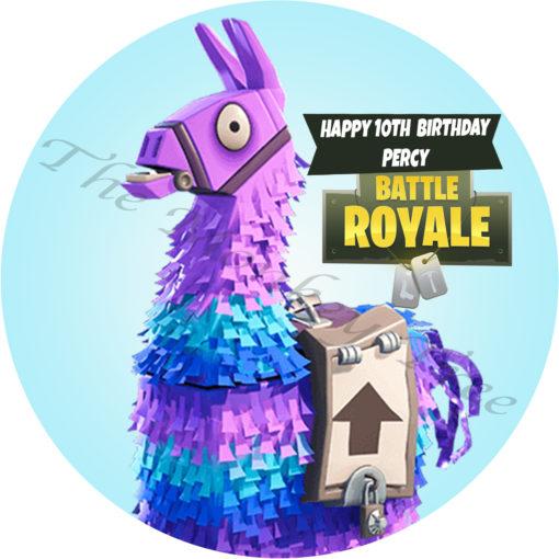 fortnite llama edible cake topper image fondant birthday season 7