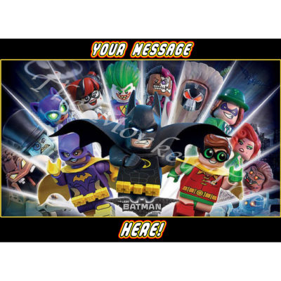 lego batman movie edible cake image topper