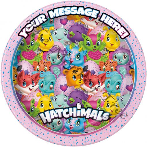 hatchimals edible cake image birthday cupcake party fondant