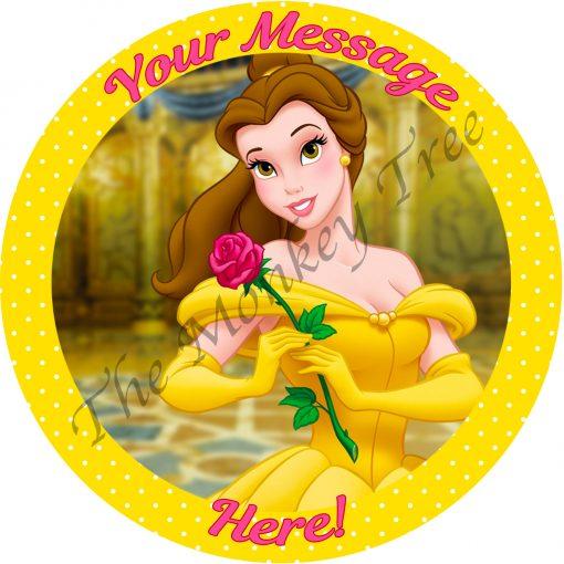 princess belle beauty beast edible cake image fondant