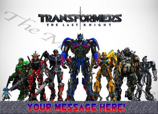 transformers optimus prime bumble bee edible image fondant cake the last knight