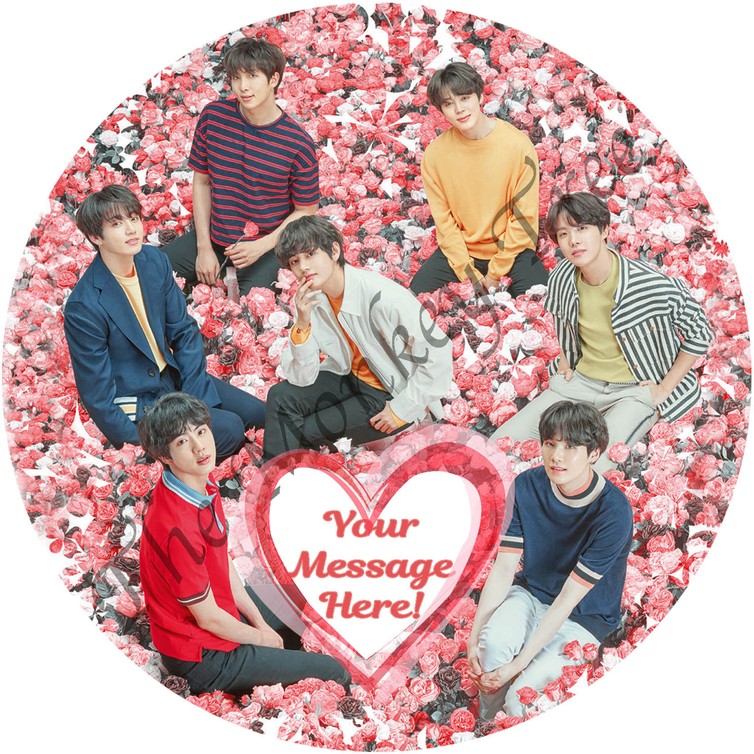 Marvelous Bts Bangtan Boys Edible Cake Image Topper Personalised The Funny Birthday Cards Online Alyptdamsfinfo