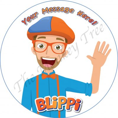 blippi edible cake image topper birthday party clown cupcake