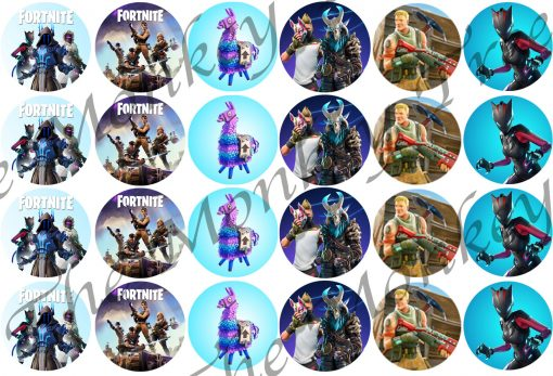 fortnite edible cake image topper birthday fondant icing party Auckland cupcake