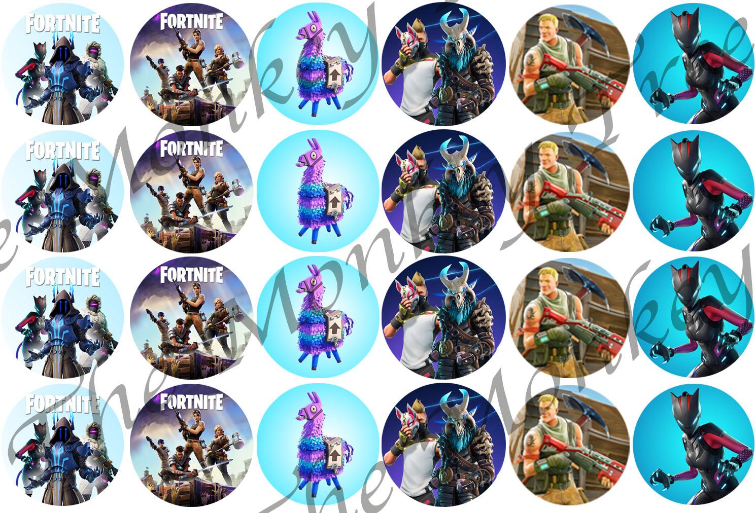 Fortnite Edible Cupcake Toppers x 24 set 2 | The Monkey Tree