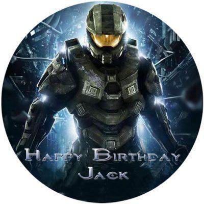 halo reach gaming ps4 xbox birthday cupcake cake party