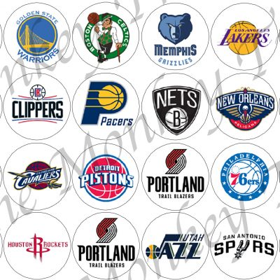 NBA basketball logos use birthday cake cupcake fondant edible topper