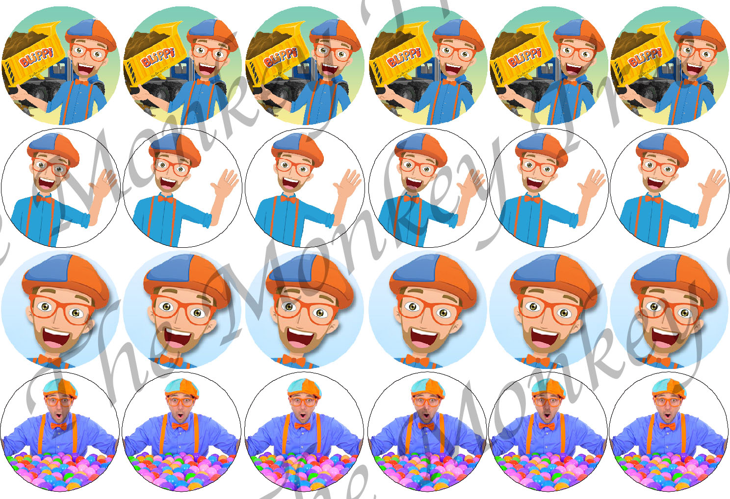 Blippi Edible Cupcake Toppers Set Of 24 The Monkey Tree
