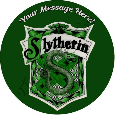 Harry Potter Hogwarts Gryffindor Slytherin Hufflepuff Ravenclaw edible cake image topper birthday