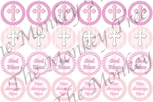 girls 1st communion cupcake fondant cake pink
