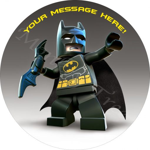 Lego Batman Movie edible cake image topper fondant birthday cupcake superhero