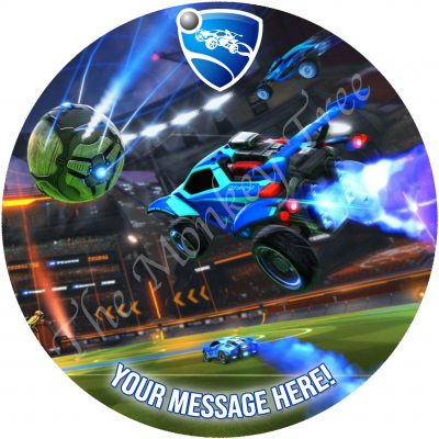 octane rocket league edible cake image fondant birthday gaming xbox ps4