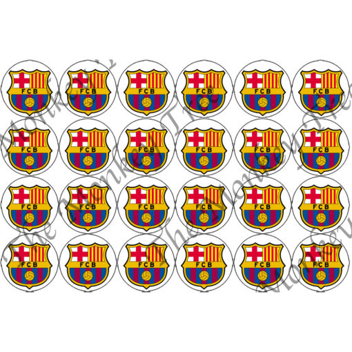 Barcelona fc football soccer cupcake edible birthday sports party cake