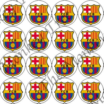 Barcelona fc football soccer cupcake edible birthday sports party cake