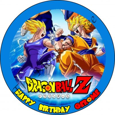 dragonballz personalised edible cake image topper birthday cake cupcake