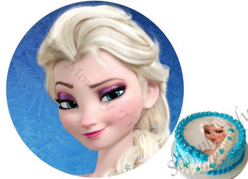 frozen elsa anna olaf edible cake image fondant