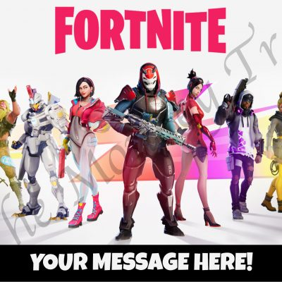 fortnite llama edible cake topper image fondant birthday season 9