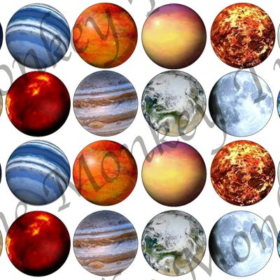 solar system planets earth mars moon Jupiter space birthday cake edible image cupcake