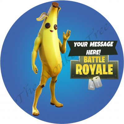fortnite peely banana edible cake topper image fondant birthday season 9