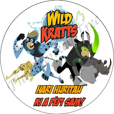 wild kratts edible cake image topper fondant birthday animal jungle party cupcake