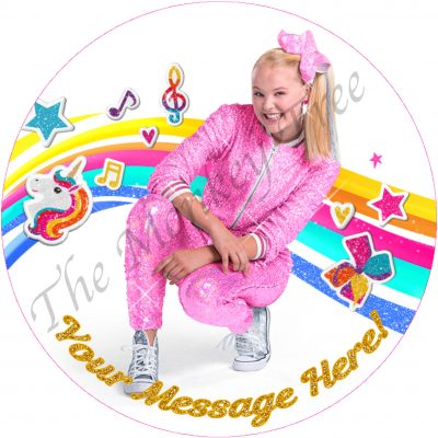 jojo Siwa edible cake image birthday cupcake party dream tour