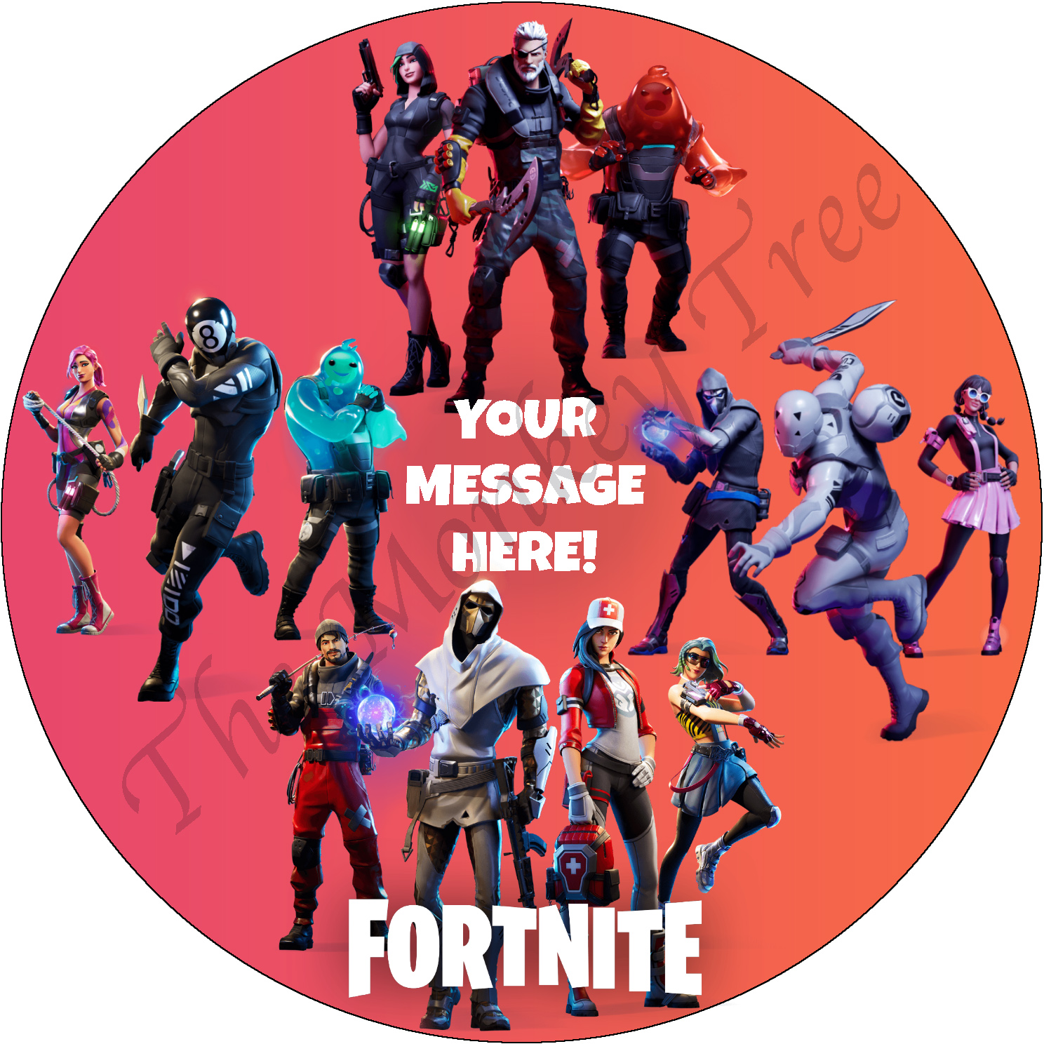 Fortnite Chapter 2 Edible Cake Image Topper Circle The Monkey Tree