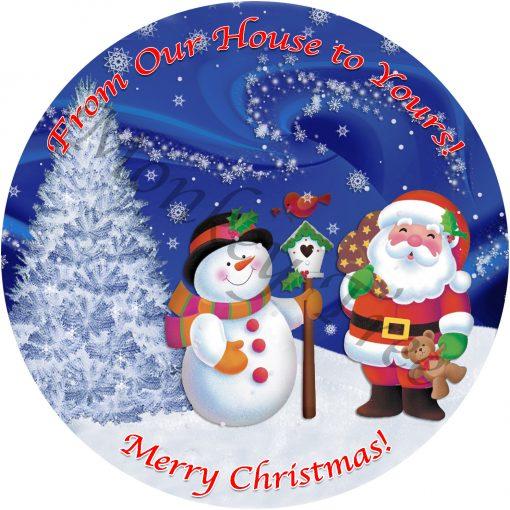 christmas snowman edible cake topper fondant party Santa