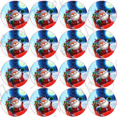 christmas snowman edible cake topper fondant party Santa cupcake