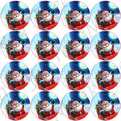 christmas snowman edible cake topper fondant party Santa cupcake