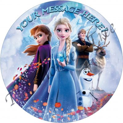 Elsa Anna Olaf Frozen edible cake image Auckland birthday party cake