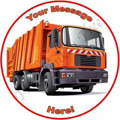 garbage rubbish truck dump truck waste birthday cake cupcake edible cake topper