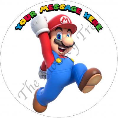 super Mario bros game edible cake topper image birthday cupcake