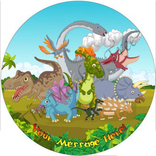 dinosaur edible cake image fondant jurassic cute