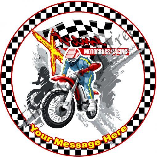motorcross motorbike bike edible image fondant cake dirt bike racing