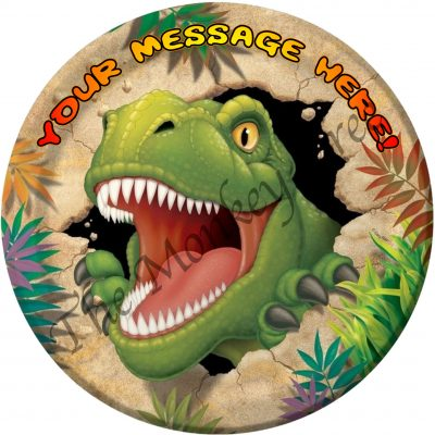 t rex dinosaur edible cake image fondant jurassic cute