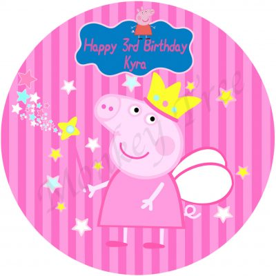 peppa pig edible cake image birthday party