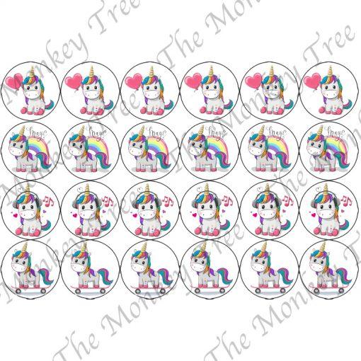 edible image fondant cake topper unicorn rainbow fairy magic cupcake