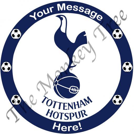 tottenham hotspur logo football edible icing cake image fondant birthday soccer