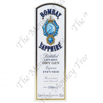 bombay sapphire gin label edible fondant cake image