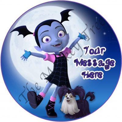vampirina woolfie disney plus edible cake image topper fondant birthday vampire
