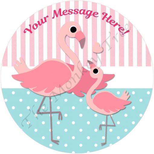 flamingo cake cupcake party bird baby shower