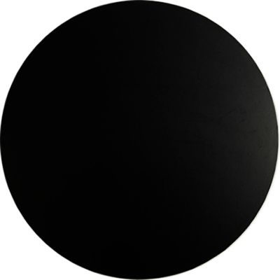 black round masonite cake board