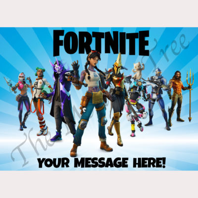 fortnite edible cake topper image fondant birthday chapter 2 season 3