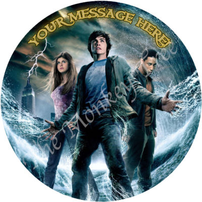 percy Jackson lightning thief edible cake image topper