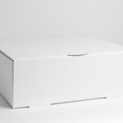 white cardboard cake box
