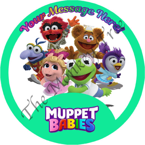 muppet babies edible cake image topper fondant birthday kermit piggy gonzo