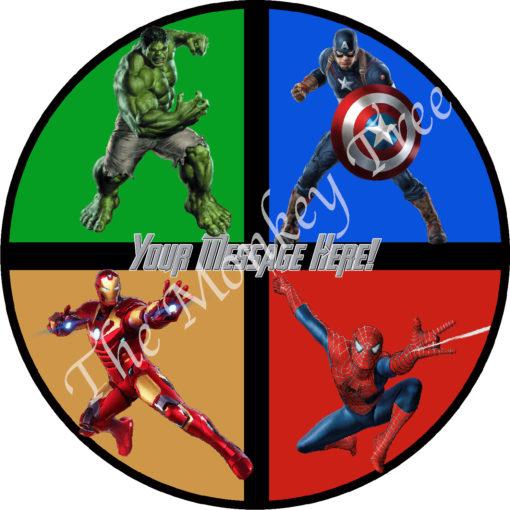 avengers edible image birthday cake superhero ironman hulk captain America end game Spiderman ironman hulk
