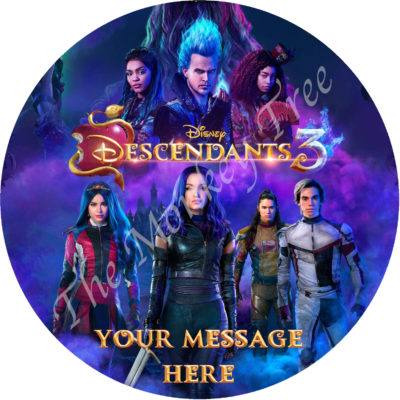 the descendants Disney edible cake image topper birthday