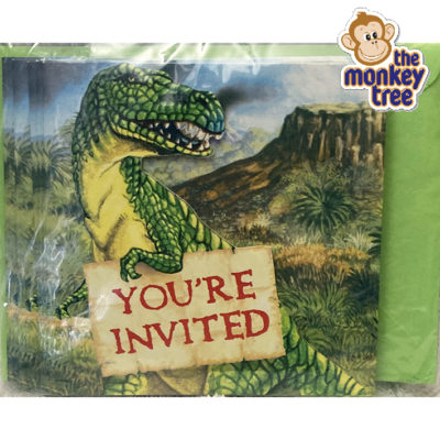 dinosaur party invite birthday t rex